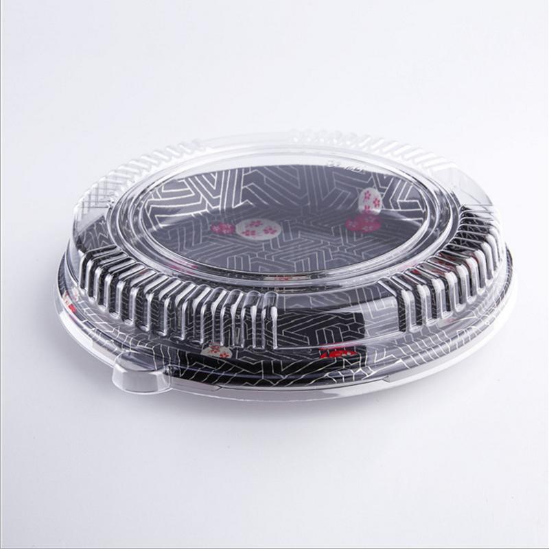 圆型食品寿司餐盒正面