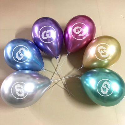 气球上面的logo是怎么印刷上去的